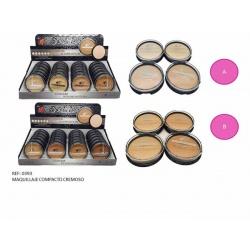 Maquillaje compacto cremoso