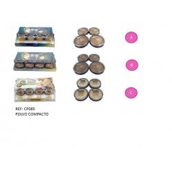 Maquillaje en polvo compacto en diferentes tonos