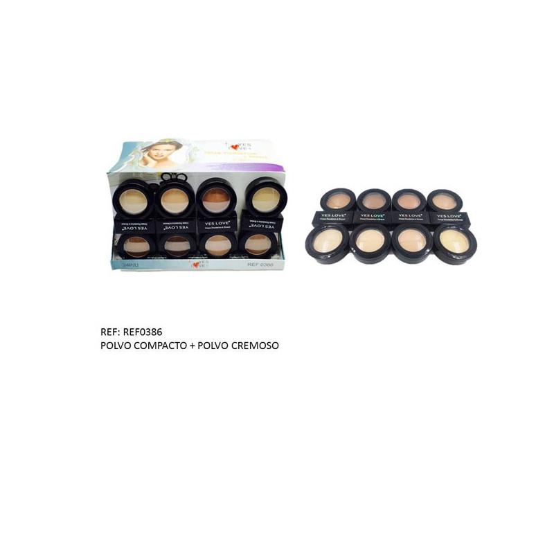 Maquillaje en polvo compacto + cremoso