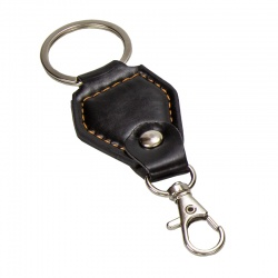 Llavero de piel negro con sujeta llaves, un buen regalo que te costará muy poco y que goza de una gran originalidad.