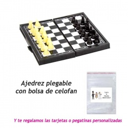 Juego de ajedrez plegable, regalo de Boda en Outlet