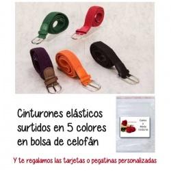 Cinturones elásticos 5 colores,  regalo de Boda en Outlet