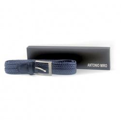 Cinturón para hombre en color azul con su caja, de Antonio Miro