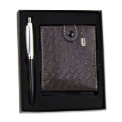 Estuche cartera caballero bolígrafos surtidos (precio unidad)