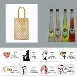 Pack Licores en bolsas originales detalles de boda 100ML