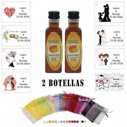 Licor Vodka Caramelo en bolsa organza y tarjeta