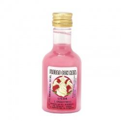 Licor de fresas con nata 50ml detalles de boda