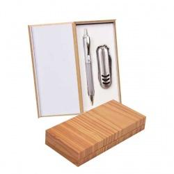 Navaja y boli en caja madera