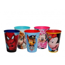 Vaso pp mickey-minnie-patrulla-frozen-spiderman-soy luna (430 ml.)