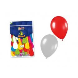 Bolsa de 50 globos colores surtidos (21 x 29 cm.)