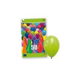 bolsa 50 globos colores lisos (25 x 32 cm.)