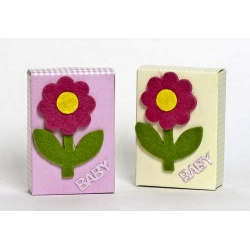 Caja vichy con jabones decorado rosa