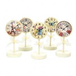 Portafotos surtidos con reloj pintado