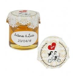 Bote de miel 40gr regalos de boda para invitados