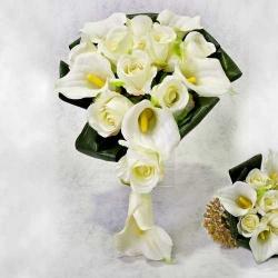 Ramo Rosas Blanco (precio unidad)