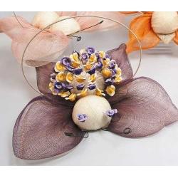 Mariposa Sinamay para pinchar morada (no incluido alfileres)