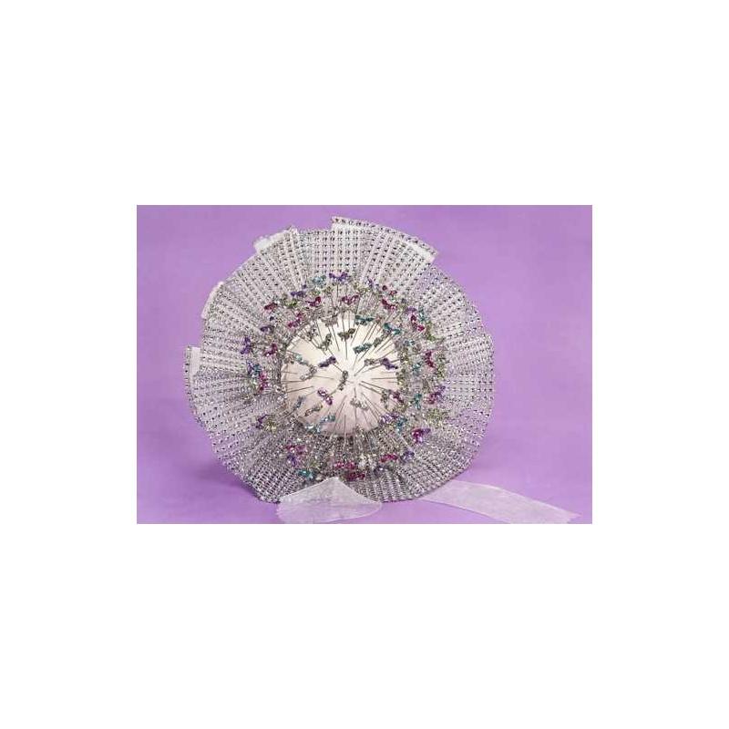 Bouquet volante plata/tul/encaje (no incluye alfileres)