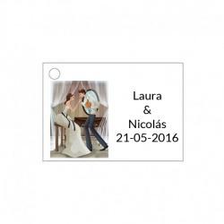 Tarjetita de boda novios barata y original