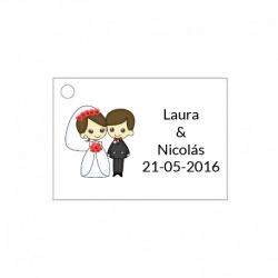 Tarjetita original para regalos de boda