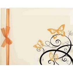 libro de firmas con mariposas