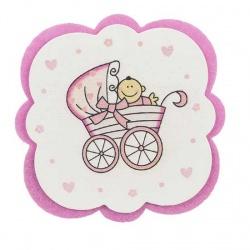 Posavasos bebe rosa
