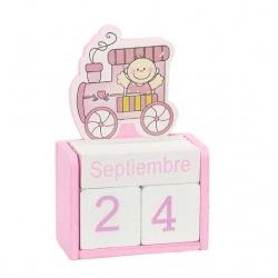Calendario bebe rosa