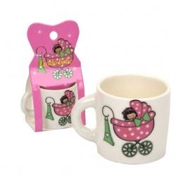 Taza mini bebe rosa