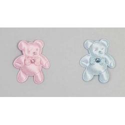 Pin oso brillo azul y rosa