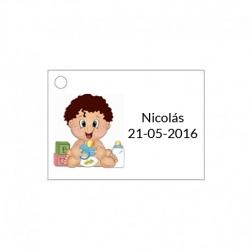 Tarjeta para detalle de bebé jugando