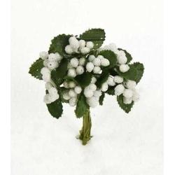 Bolsa 12 pomos 12 flores blanco = 144 unidades