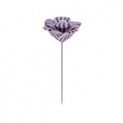 Alfiler Novia Pasta Flor Violeta