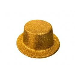 Sombrero purpurina oro