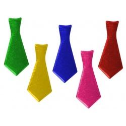 Corbata purpurina colores surtidos de plástico