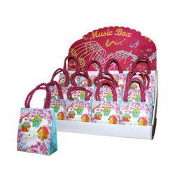 Pack de 12 bolsas musicales con pajaritos en expositor