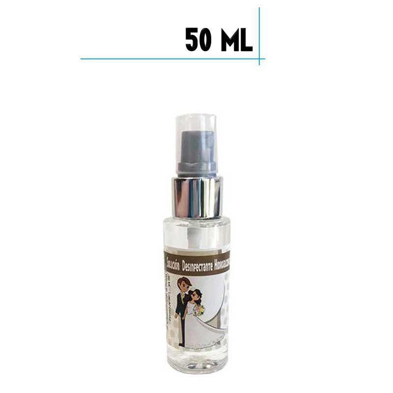 Bote de Hidrogel Desinfectante con Spray, 50 ml plástico